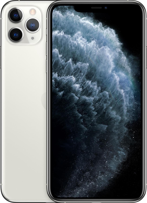 """Smartphone 6.5"""" Apple iPhone 11 Pro Max - Retina, A13, 4 Go de RAM, 64 Go, argent"""