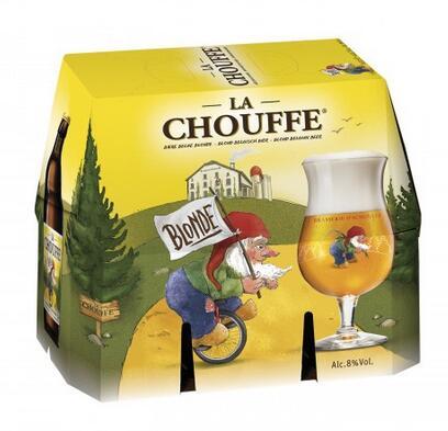 Pack de Bières belge blonde La Chouffe - 6 x 33 cl