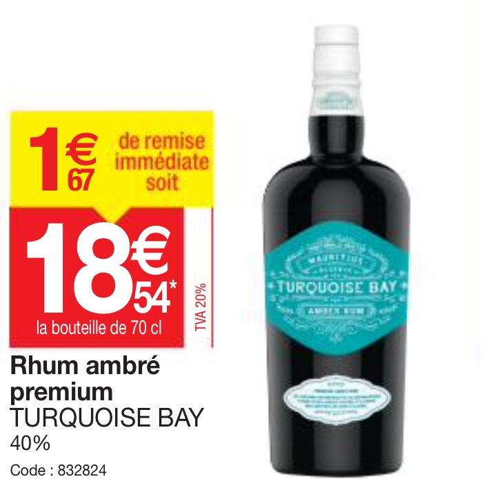 Sélection d'articles en promotion - Ex: Bouteille de rhum ambré Turquoise Bay 70 cl (Promocash)