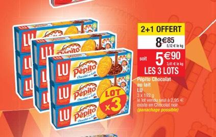 3 Lots de 3 paquets de Pépito au Chocolat (9 x 192g)