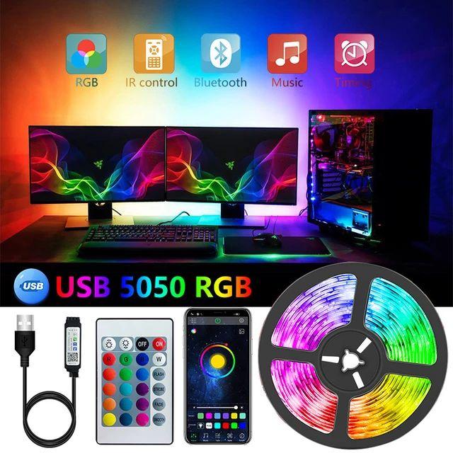 [Nouveaux Clients] Ruban LED USB - 2m, RGB 5050, avec télécommande IR