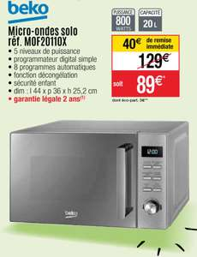 Micro Ondes Beko MOF20110X