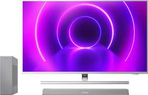 """TV LED 58"""" Philips 58PUS8505 - 4K UHD, Android TV, Ambilight 3 côtés + Barre de son 2.1 Philips The One TAB8505"""