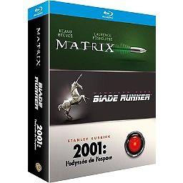 Sélection de Blu-ray & DVD en promotion - Ex: Coffret 3 films Blu-ray : matrix, blade runner & 2001 l'odyssée de l'espace