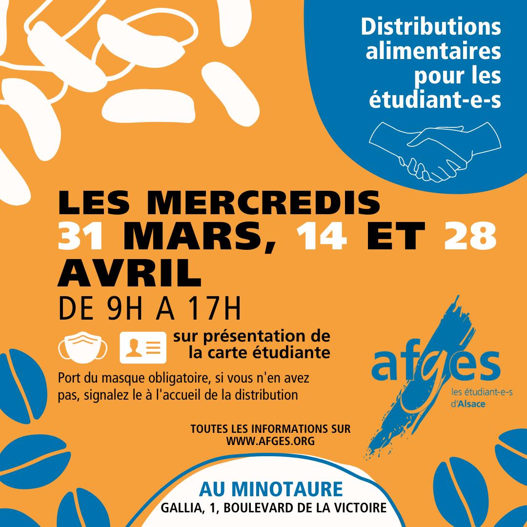 [Étudiants] Distribution de colis alimentaire - Strasbourg (67)