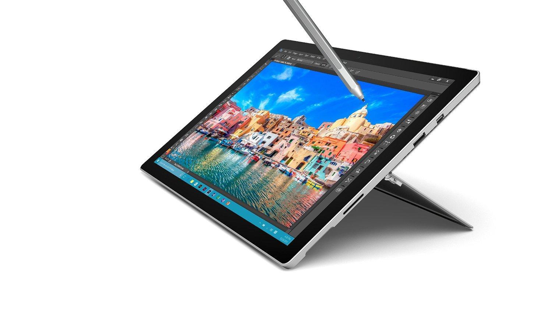 """Une tablette tactile 12.3"""" Microsoft Surface Pro 4 achetée = 1 clavier offert - Ex : modèle i5-6300U, 4 Go de RAM, 128 Go en SSD + stylet + clavier"""