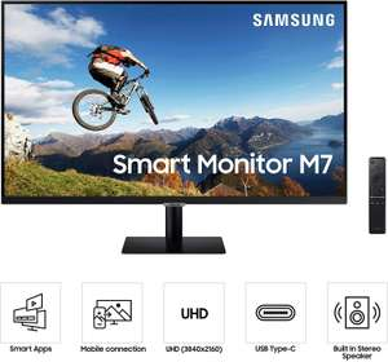 """[Etudiants / Clients MACIF] Ecran PC 32"""" Samsung M7 LS32AM700UUXEN - 4K UHD, 8ms, Mirroring, DLNA (Via ODR 40€)"""