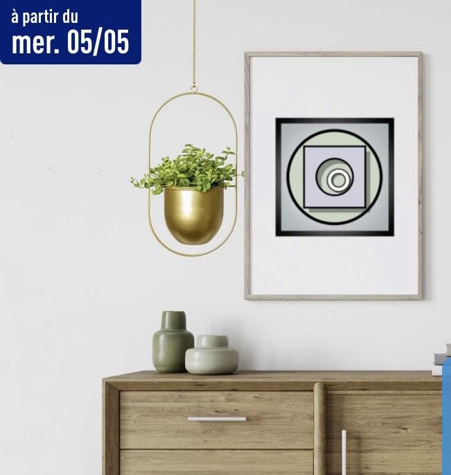 Pot suspendu en métal Living Art (Différents modèles)