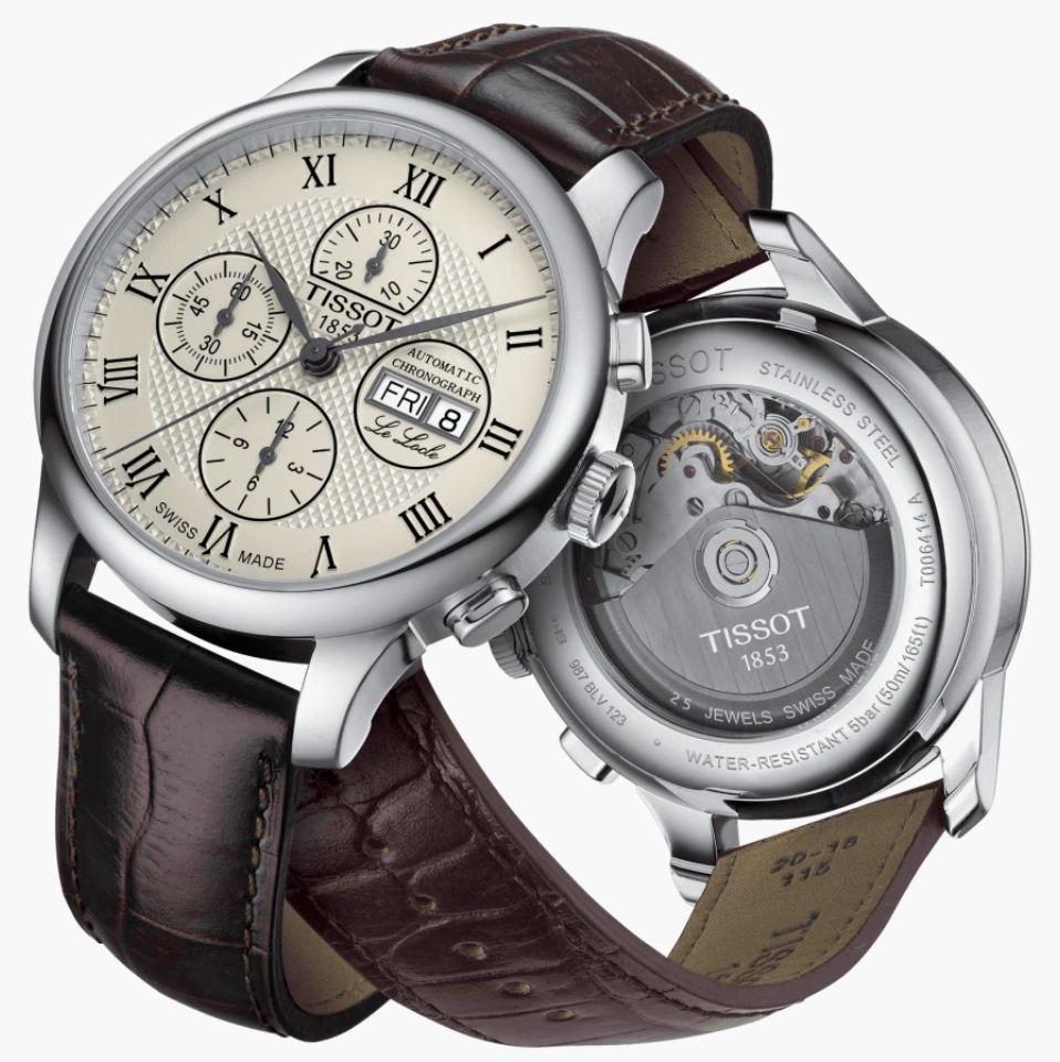 Montre Automatique Tissot Le Locle Chronographe Valjoux T006.414.16.263.00 - Verre Saphir, mouvement Valjoux A05.H21 - 42 mm