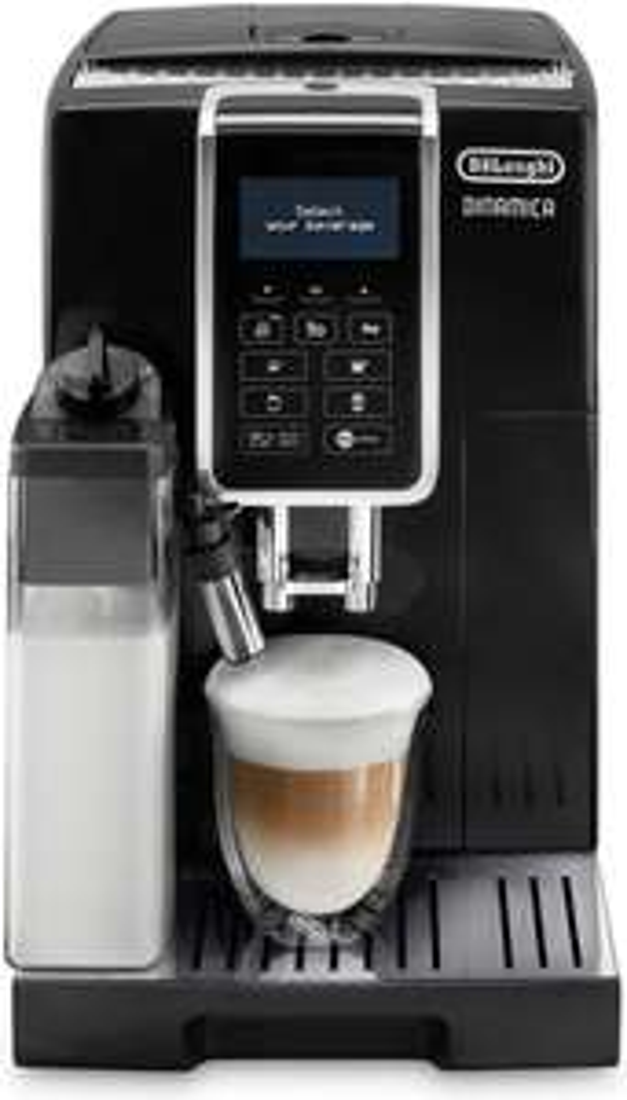 Machine à expresso automatique avec broyeur de grains De'Longhi Dinamica ECAM350.55.B - 1450 W, noir