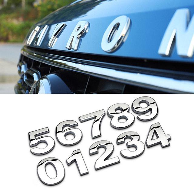 [Nouveaux clients] Lettre alphabétique 3D autocollante pour Automobile, 2 Roues - 2,5cm ou 4cm