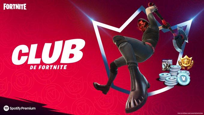 [Club Fortnite Mai] Pack Deimos + 1000 V-bucks + Pass de combat (950 Vbucks) + Fortnite : Sauver le monde + 3 Mois de Spotify Premium