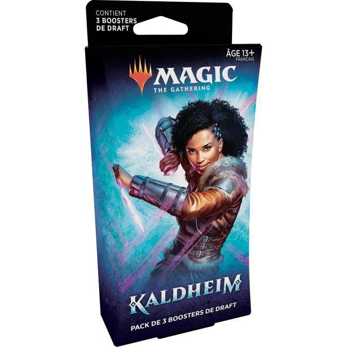 Pack de 3boosters de Draft Magic The Gathering Kaldheim - 45 Cartes (Version française)