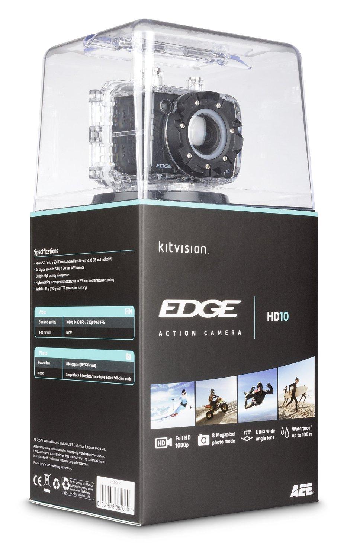 "Caméra sport Kitvision Edge HD10 Full HD avec écran détachable 1.5"""