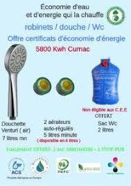 Distribution gratuite de matériels hydro-économe (aérateurs robinets, douchette aérée, sacs WC...) - Château-Arnoux-Saint-Auban (04)
