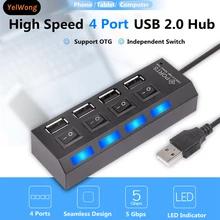 [Nouveaux clients] Hub USB 2.0 Giausa - 4 ports avec interrupteurs, blanc ou noir