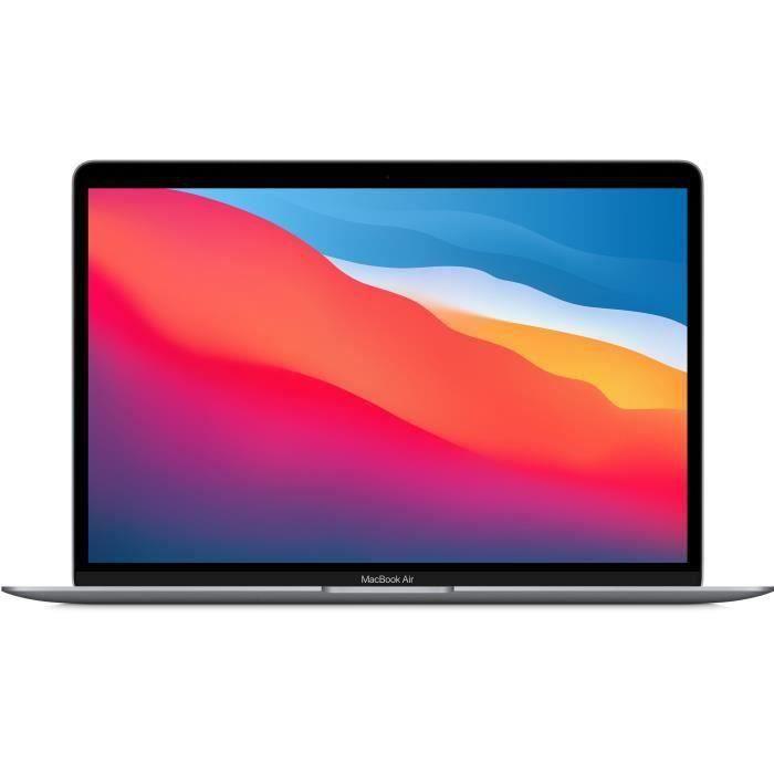 """PC Portable 13.3"""" Apple MacBook Air (2020) - WQXGA, Puce M1, RAM 8 Go, SSD 256 Go, AZERTY, Gris Sidéral (+ 51.49€ à cagnotter pour les CDAV)"""