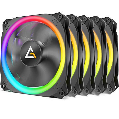 Lot de 5 Ventilateurs de boitier Antec Prizm 120 RGB 5+C -120 mm, PWM, avec contrôleur (Vendeur Tiers)