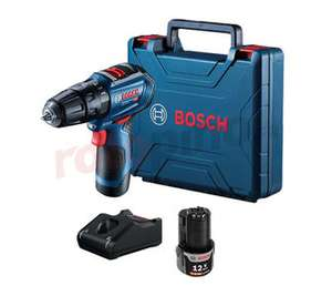 Perceuse-visseuse à percussion Bosch GSB 12V-30 + 2 batteries 2 Ah + chargeur + mallette (rotopino.fr)