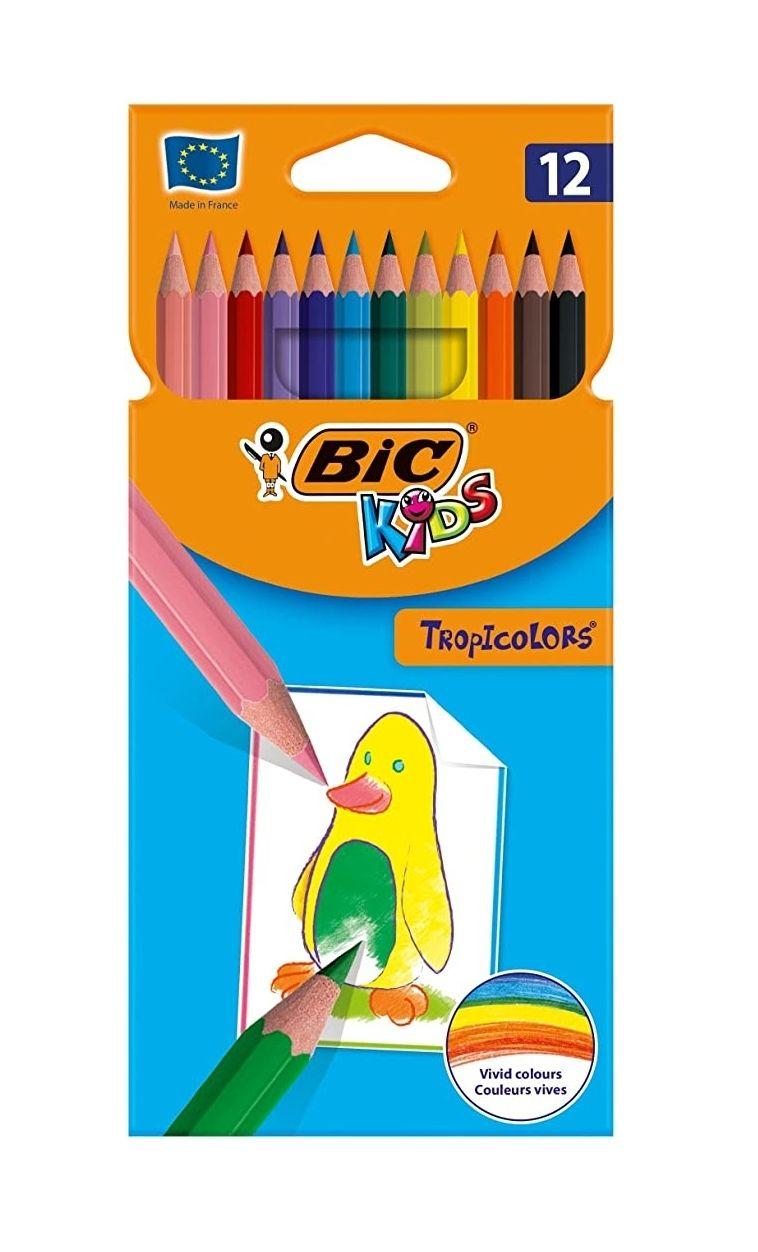 Etui de 12 crayons de couleurs Bic Kids Tropicolors