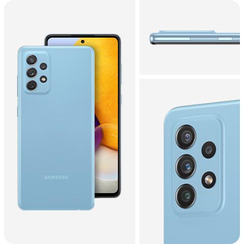 """Smartphone 6,7"""" Samsung Galaxy A72 4G - FHD+, Snapdragon 720G, 128Go, 6Go Ram, 5000 mAh + Galaxy SmartTag offert"""
