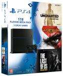 Console Sony PS4 1To + God of War 3 + The Last of Us + Uncharted Collection
