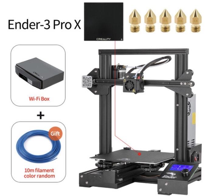 Imprimante 3D Creality Ender 3X Pro avec Box WiFi (146,74€ via SUPERDEALSFR14)