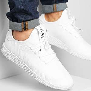 Baskets Homme Adidas Pharrell Williams HU - blanche (plusieurs tailles)