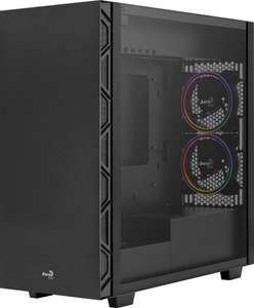 Boîtier PC Aerocool Flo Saturn FRGB Black - ATX