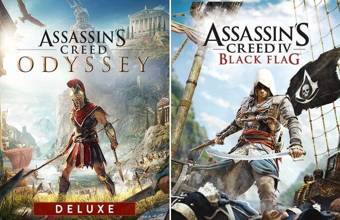 Assassin's Creed Odyssey - Édition Deluxe à 8.73€ ou Assassin's Creed Black Flag à 4.56€ sur PS4 (dématérialisés, store BR)