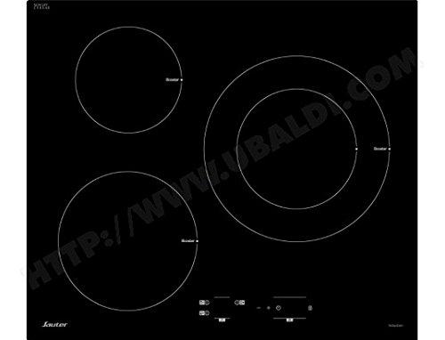 Plaque induction Sauter SPI4367B - 3 foyer, 7200W, 3 boosters (Vendeur tiers - Ubaldi)