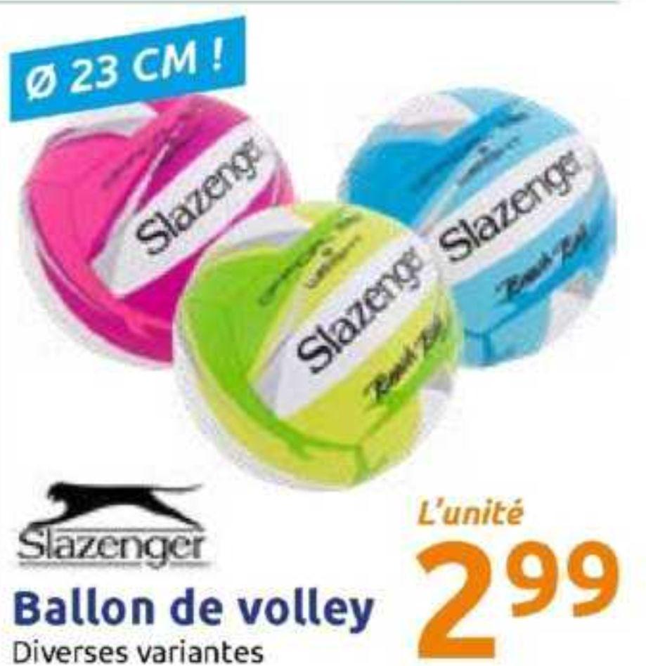 Ballon de beach-volley Slazenger - 23 cm, bleu, jaune, rose ou vert