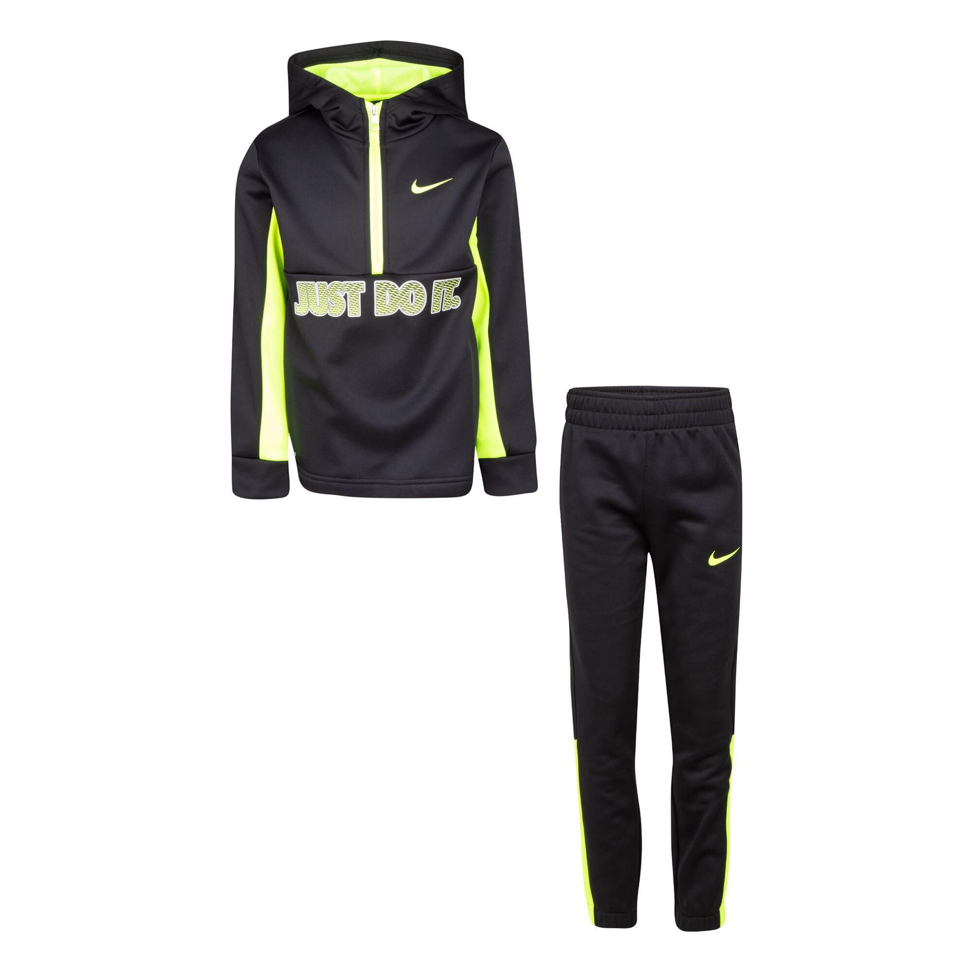 Ensemble Nike Sweat zippé + Pantalon de survêtement - Noir et jaune pour Enfant