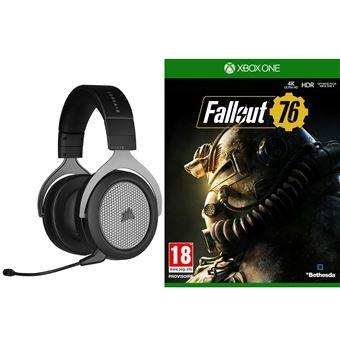 Casque Gaming sans-fil Corsair HS75 XB Noir + Fallout 76 sur Xbox One (+10€ sur la carte Adhérent)