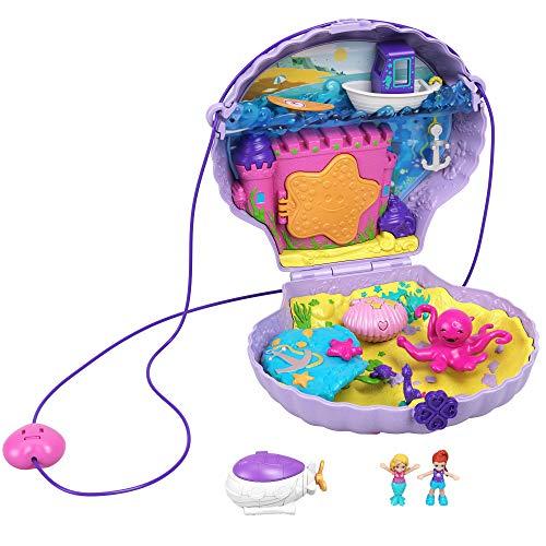 Jouet Coffret sac à main Polly Pocket - Le Coquillage Enchanté avec mini-figurines Polly et Lila GNH11
