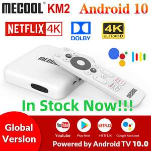 Box TV Android Mecool KM2 - 4K UHD, 2 Go de RAM, 8 Go, Android 10, Bluetooth 4.2