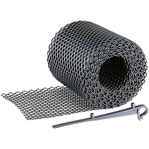 Grillage protège gouttière WerkaPro 02381 - 6M + 10 CrochetS? Gris