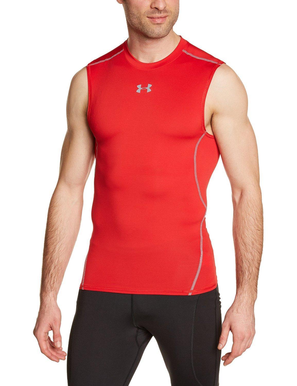 Tshirts de compression Hommes Under armour sans manches