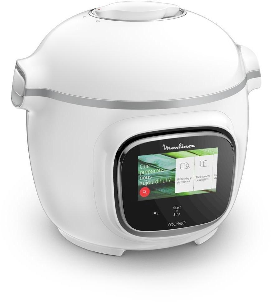 Multicuiseur Moulinex Cookeo Touch CE901100 - 6 L, 1600 W, blanc (via 119€ sur la carte de fidélité)