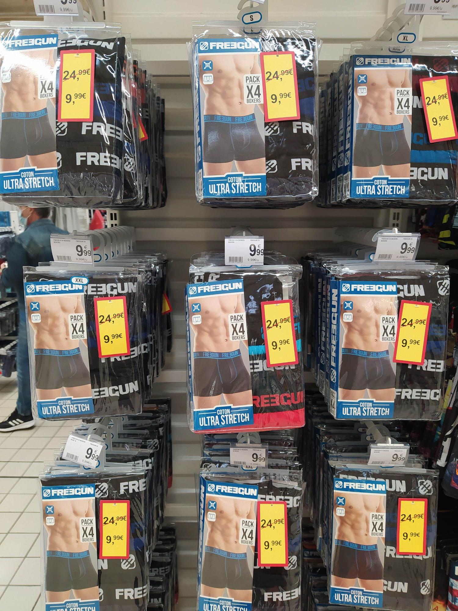 Pack de 4 boxers Freegun Coton Ultra Stretch (différentes tailles) - Martigues (13)