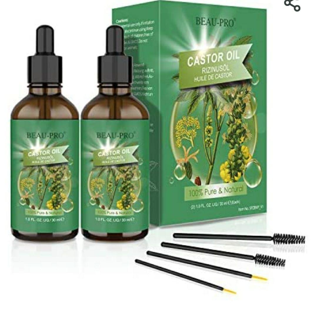 Pack de 2 Huiles de Ricin Beau-Pro - Pure et 100% Naturelle, Pressée à froid - 2x 30ML (Vendeur tiers)