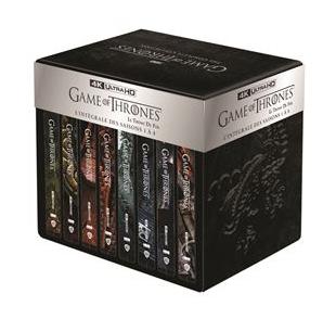 Coffret Blu-Ray 4K en métal + boîtiers Steelbook Game of Thrones : Saison 1 à 8 (+10€ sur le compte fidélité pour les adhérents)
