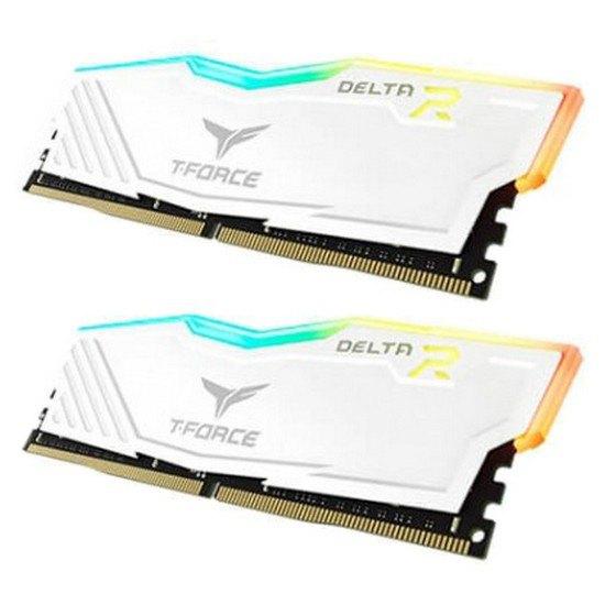 Kit mémoire RAM DDR4 T-FORCE Delta R (TF4D432G3000HC16CDC01) - RGB, 2 x 16 Go, 3000MHz, CL16, Blanc