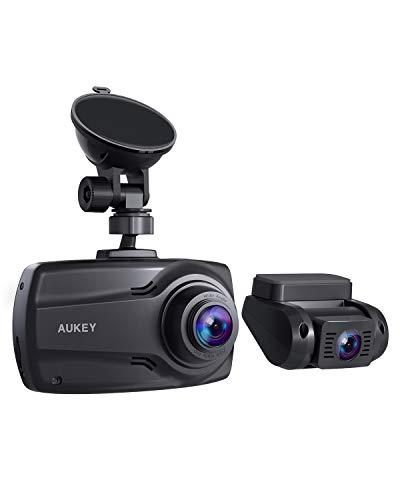"""Caméra embarquée double Aukey DR03 - Avant et Arrière, Full HD 30 fps, Angle 170°, Ecran 2.7"""" (Vendeur tiers)"""