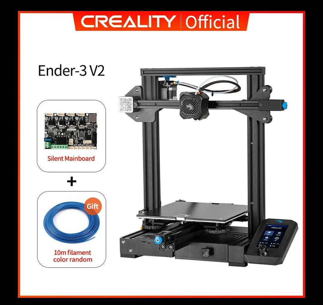 Imprimante 3D Creality 3D Ender-3 V2 - avec carte Silent Board + bobine de filament 10 m (172.17€ via Code HAPPYFR16, entrepôt PL)