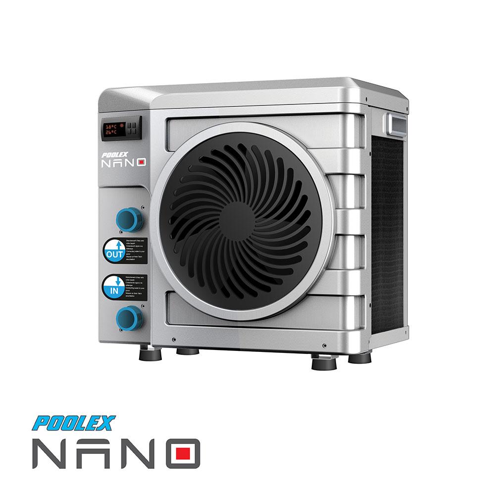 Pompe à chaleur Poolex Nano Silver spécial piscine hors-sol et petit bassin - 2,8kW, 20m3 (Reconditionnée) - piscinex.fr