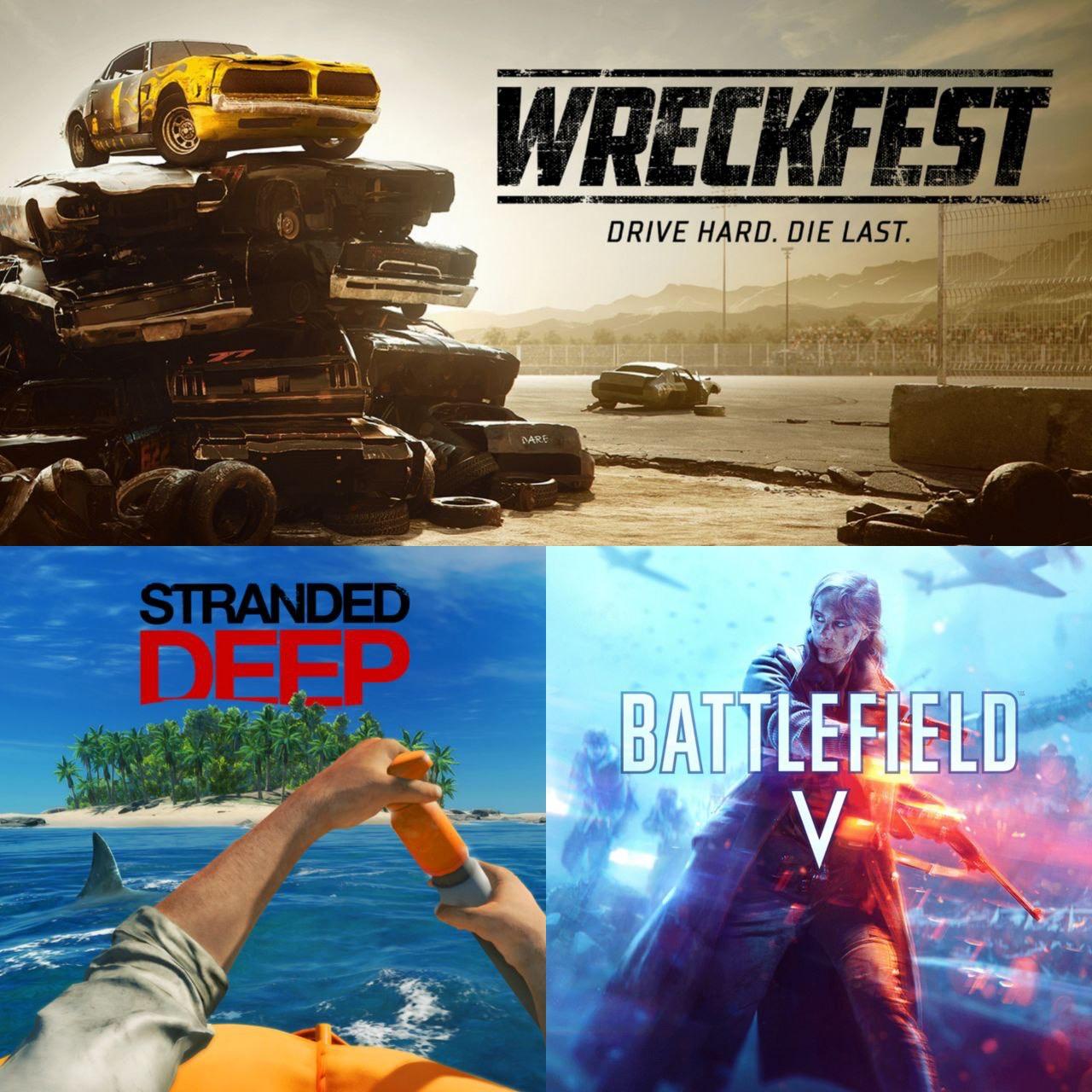 [PS+] Wreckfest, Battlefield V et Stranded Deep offerts sur PS4/PS5 (Dematérialisés)