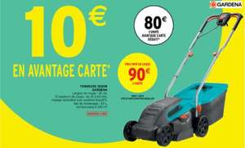 Tondeuse électrique Gardena - 1200W (Via 10€ sur carte de fidélité)