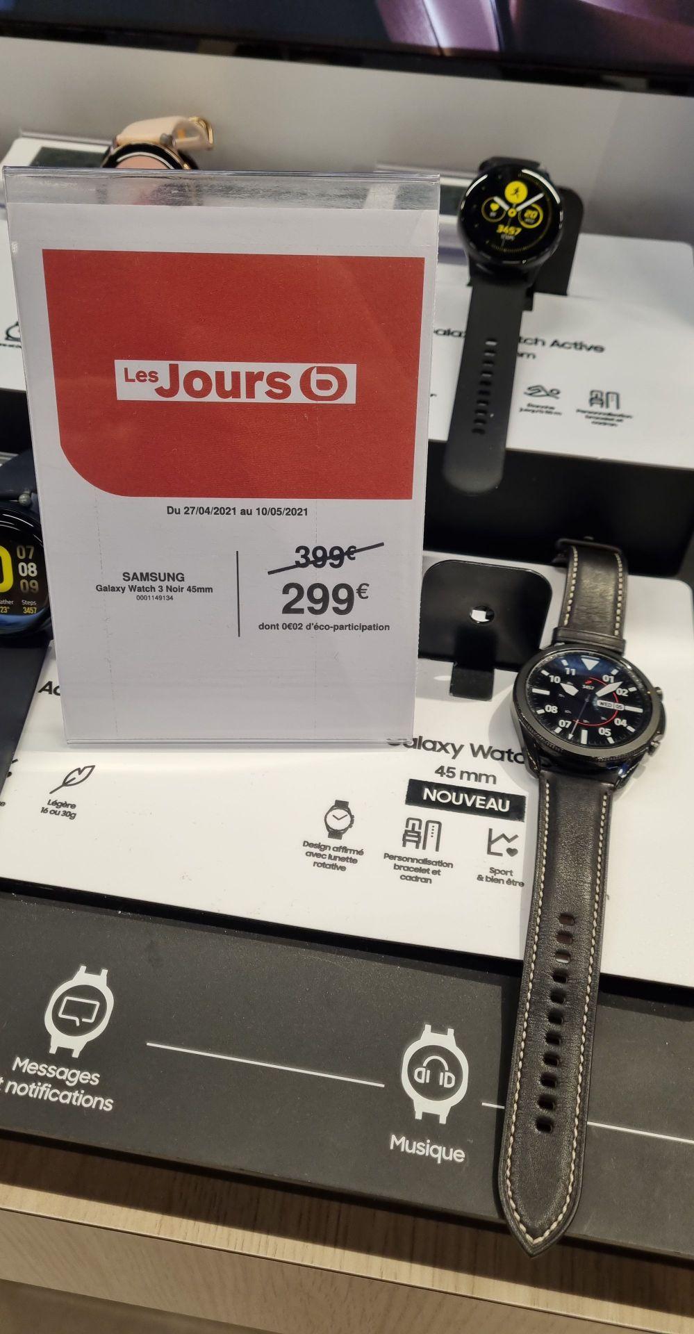 Montre connectée Samsung Galaxy Watch 3 - 45 mm, Noir (Via ODR de 50€) - Tarbes (65)