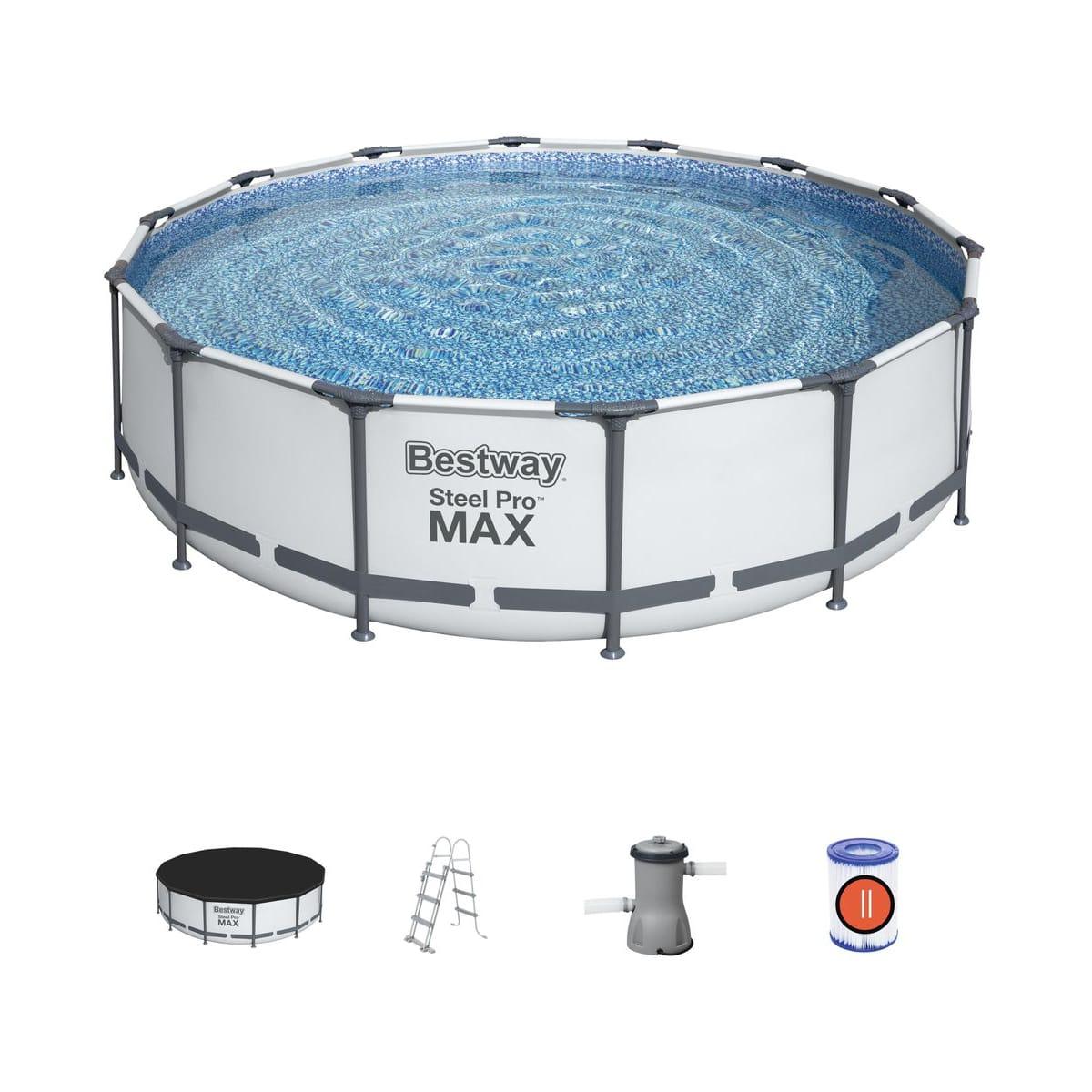 Piscine tubulaire Ronde Steel Pro Max - 427cm x H 107cm (Magasins participants)
